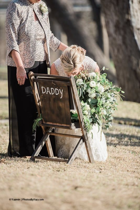 7 Ways a Bride Chose To Honor Her Deceased Father is part of Wedding memorial - Choosing ways to honor a father can prove to be difficult for many brides  Here are ways this Texas bride chose to honor her father