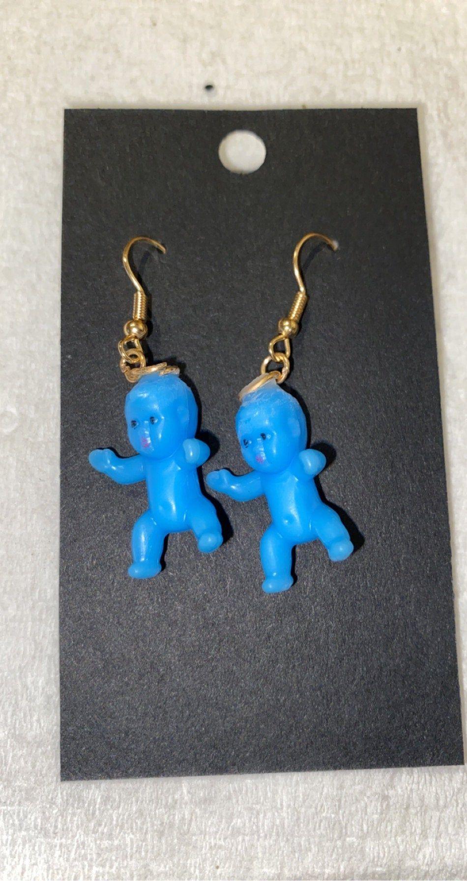 Plastic Baby Doll Earrings Etsy In 2020 Etsy Earrings Crazy Earrings Homemade Earrings