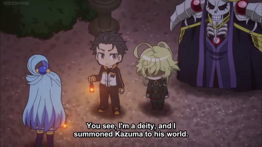 Tanya (Youjo Senki) find out Aqua (Konosuba) is a god - Isekai Quartet [Video] | Anime music, Cute comics, Anime