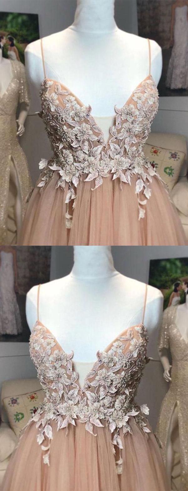 Cute aline prom dress prom dress long appliques prom dress