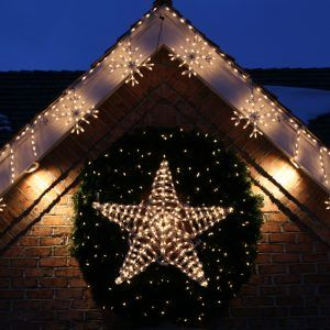 outdoor lighted star decoration