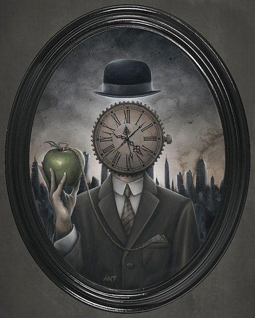 Anthony Clarkson 'Grandfather Clock' - Acrylic on