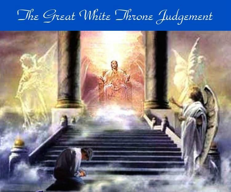 Image result for picture of God on white throne at Judgement Day