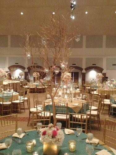 Mazantia Tree Centerpieces Centerpiece Wedding CenterpiecesPink Gold And White Decor