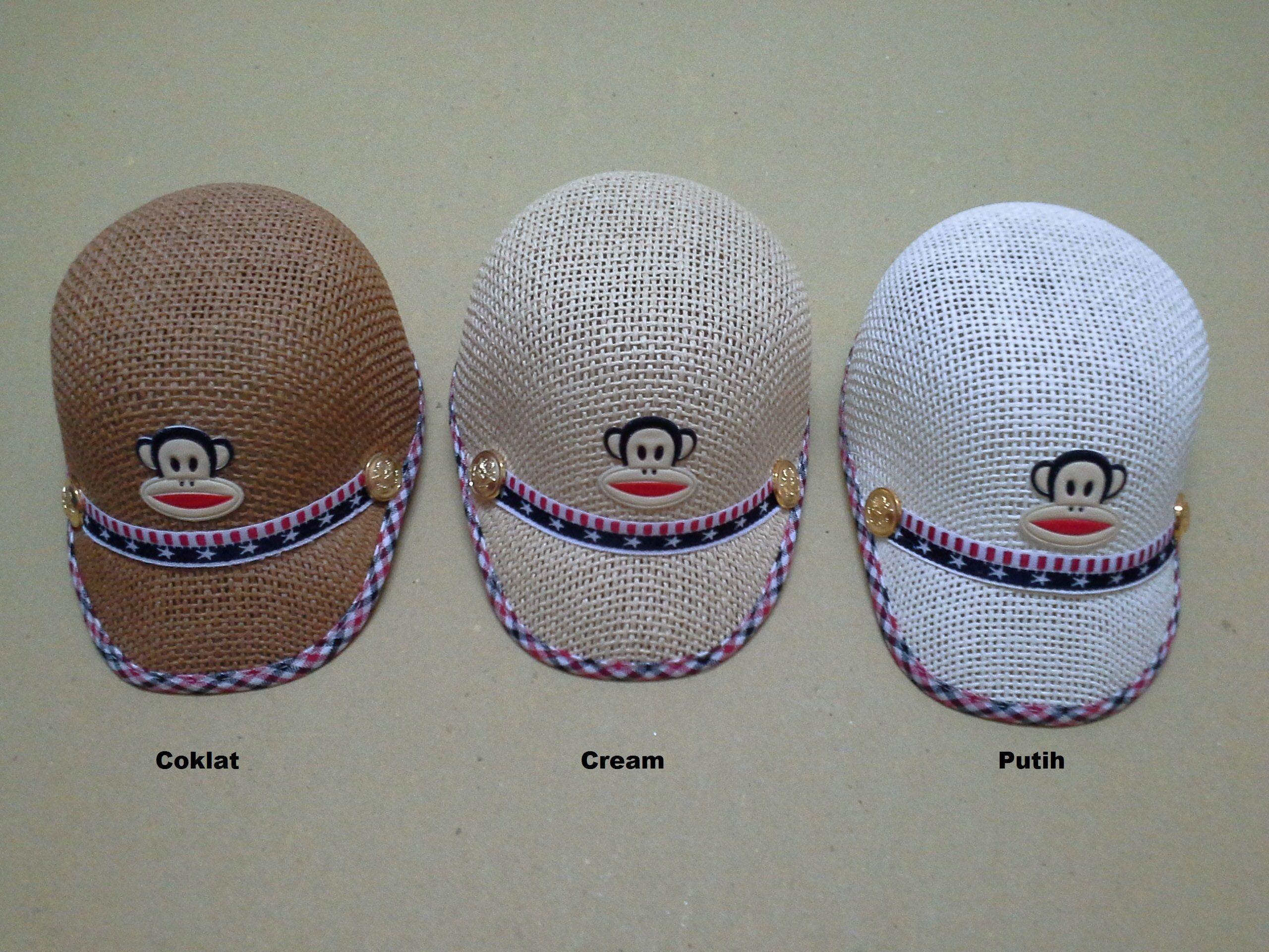 #Cute Monkey Hat Harga : Rp 60.000. Lingkar kepala = 49cm. Ukuran : All Size (usia diatas 1 th - 4 thn)