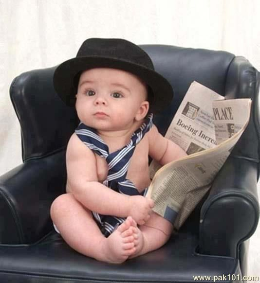 Funny picture about reading funny picture baby reading newspaper pak101 com