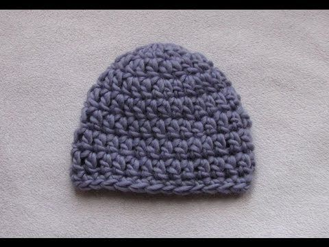 48af730b76895 VERY EASY crochet chunky baby hat tutorial - 20 minute baby hat - YouTube