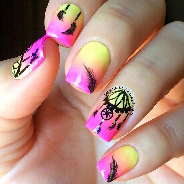 Instagram media sensationails4u - Dream Catcher  #nail #nails #nailart