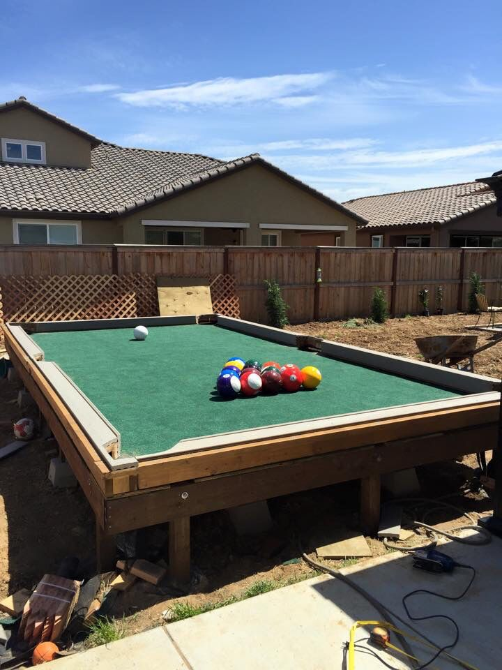 Soccer pool table | Outdoor pool table, Diy pool table ...