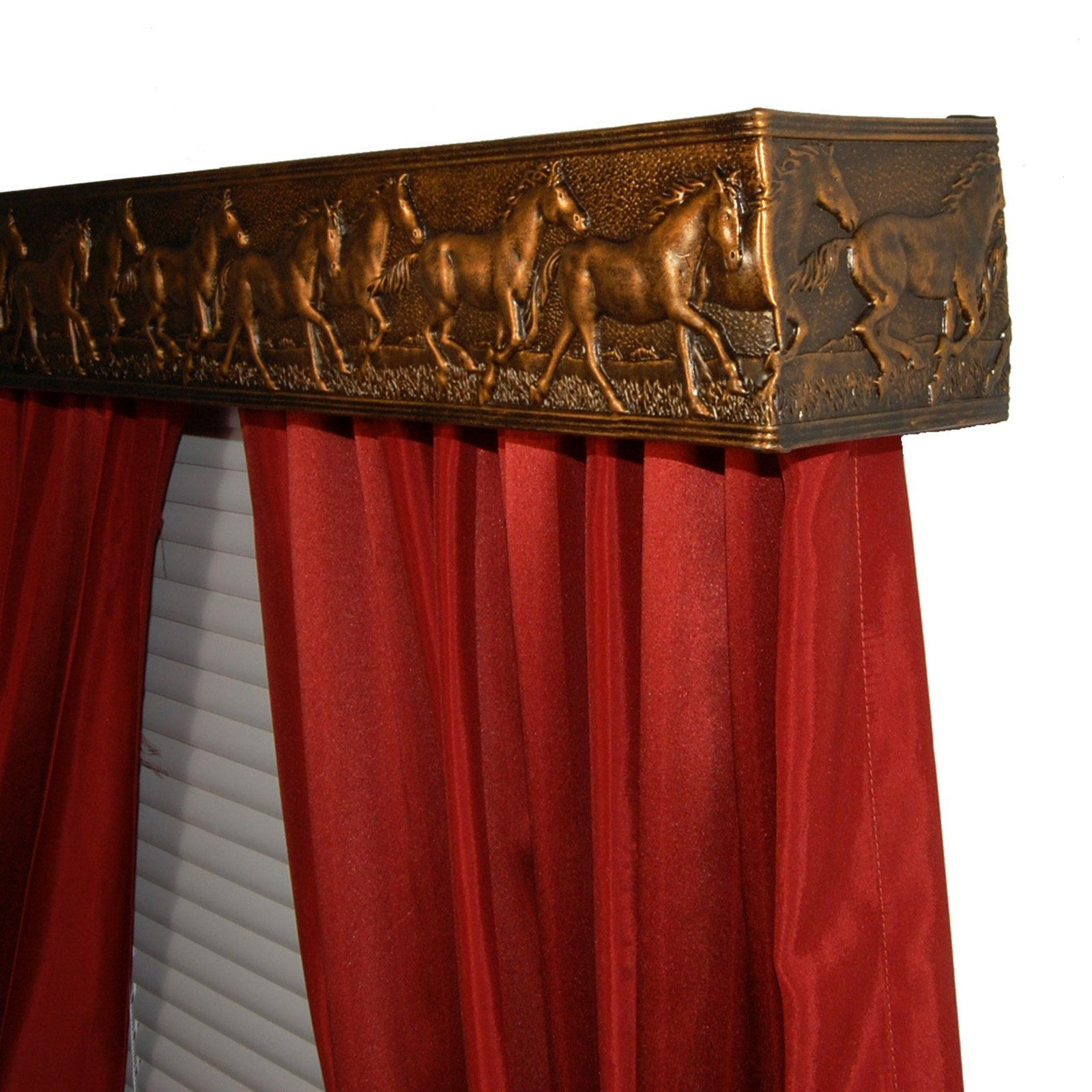Bcl Wild Horses Curtain Rod Valance Set Make Window Treatments A