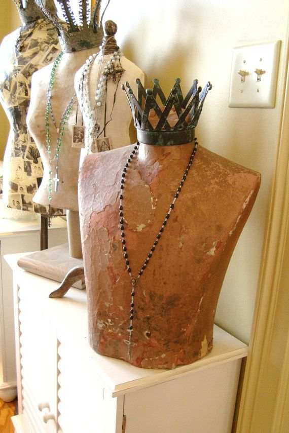 Diy With Duct Tape And A T Shirt And Then Cover It With Papier Mache Great Displays For Craft Shows Diy Jewelry Display Jewellery Display Mannequin Display
