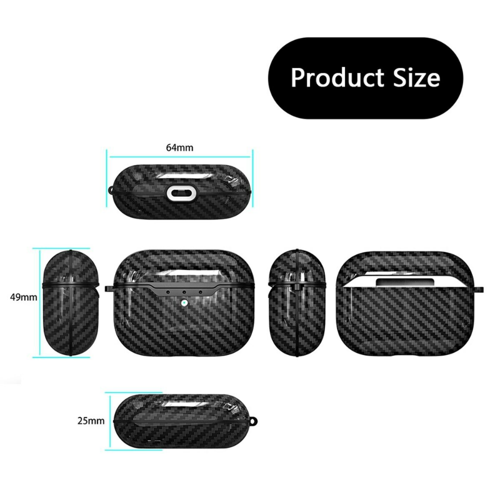 For Apple Airpods Pro Case Carbon Fiber Tpu Shockproof Charging Skin Case Cover Ebay
