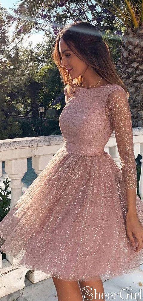 Long Sleeve Short Homecoming Dresses Backless Formal Dress ARD2372 Long Sleeve Short Homecoming Dresses Backless Formal Dress ARD2372