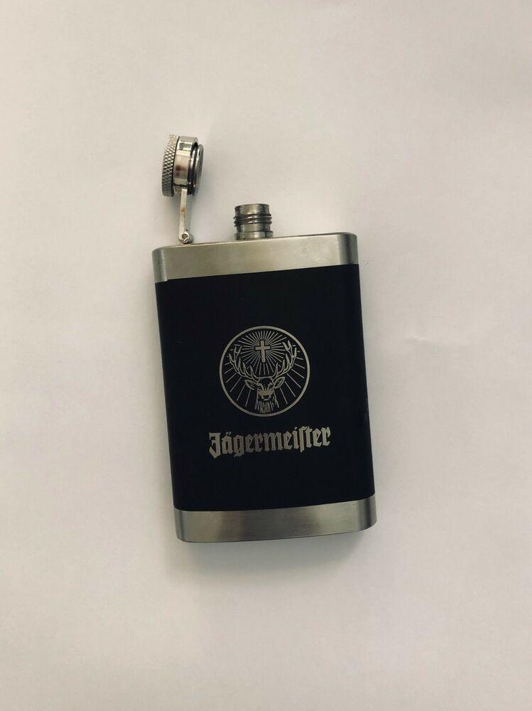 Jagermeister Stainless Steel 4oz My Collection Drink Pocket Hip Flask Liquor Ebay