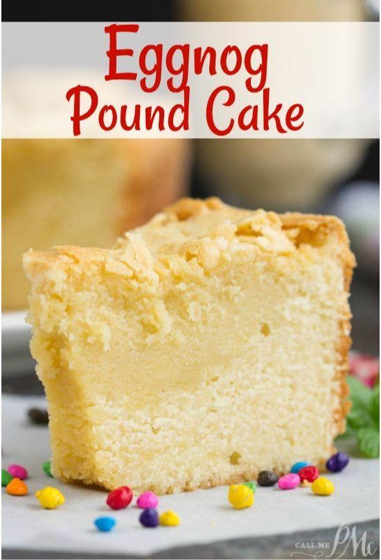 Eggnog Pound Cake #desserts