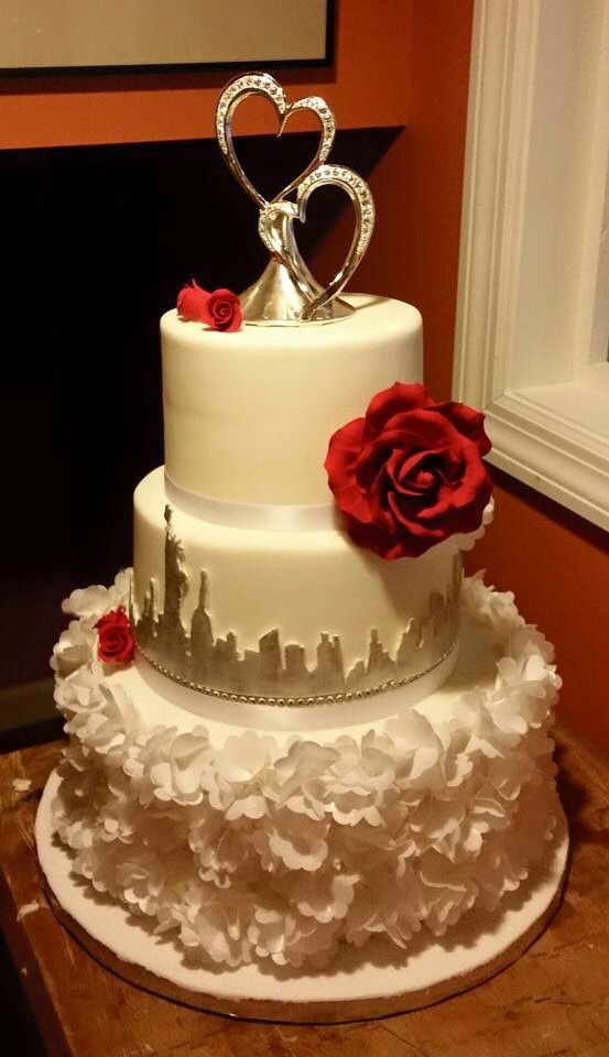 New York City Skyline Wedding Cake