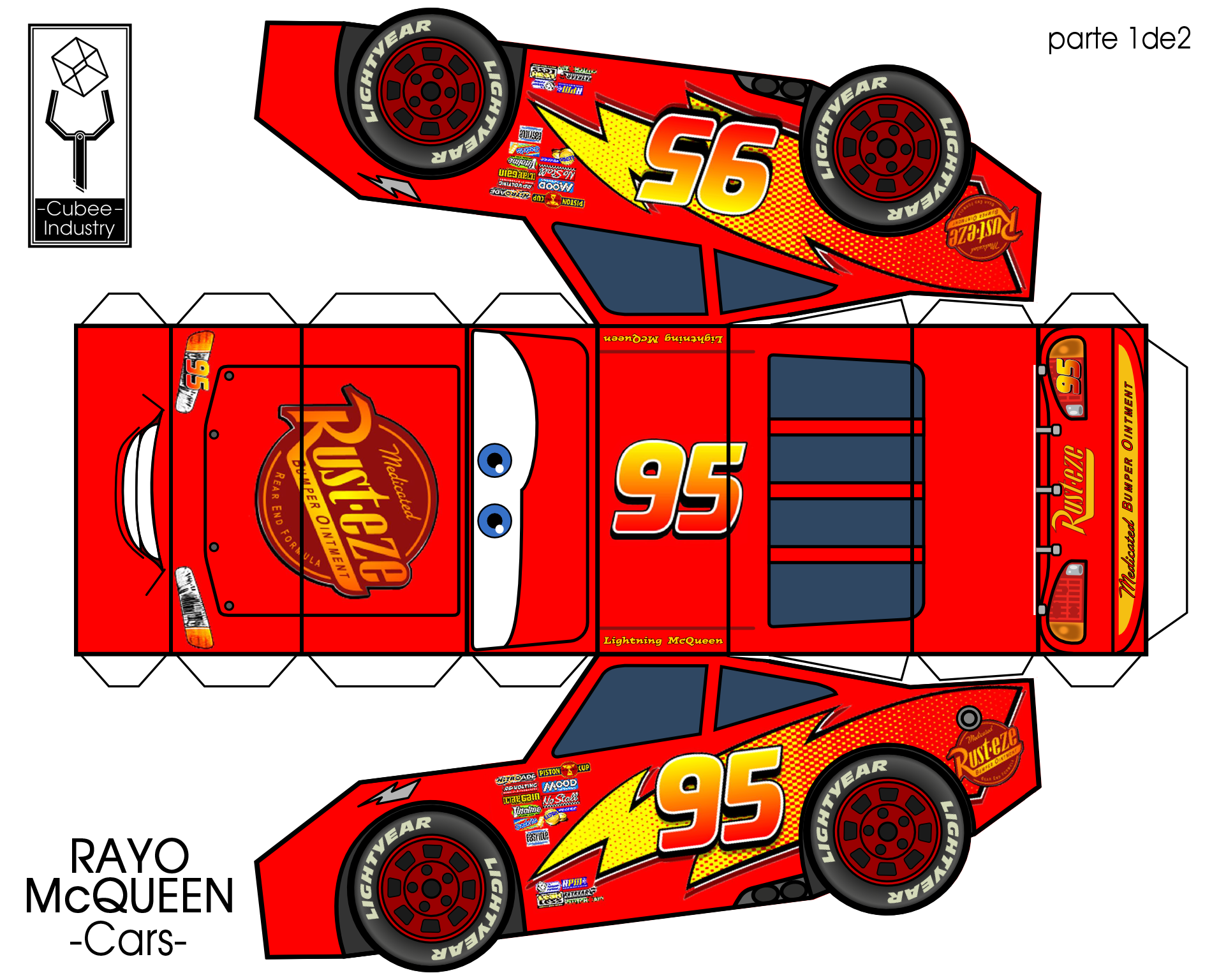 Image result for papercraft rayo mcqueen | Projects to try ...