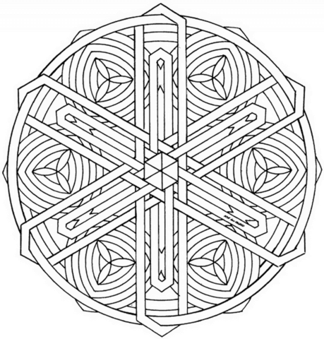 Click To See Printable Version Of Celtic Knot Mandala Coloring Page
