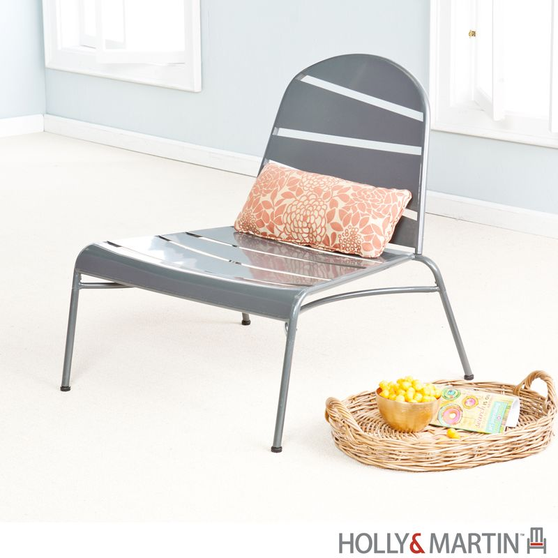 Holly U0026 Martin Loggins Indoor / Outdoor Lounge Chair   Silver   Outdoor  Chairs / Patio