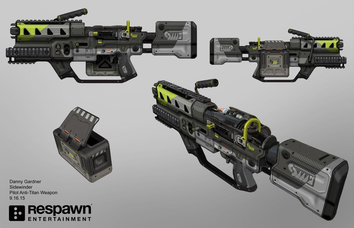 ArtStation - Titanfall 2 Weapons, Danny Gardner | scifi ...