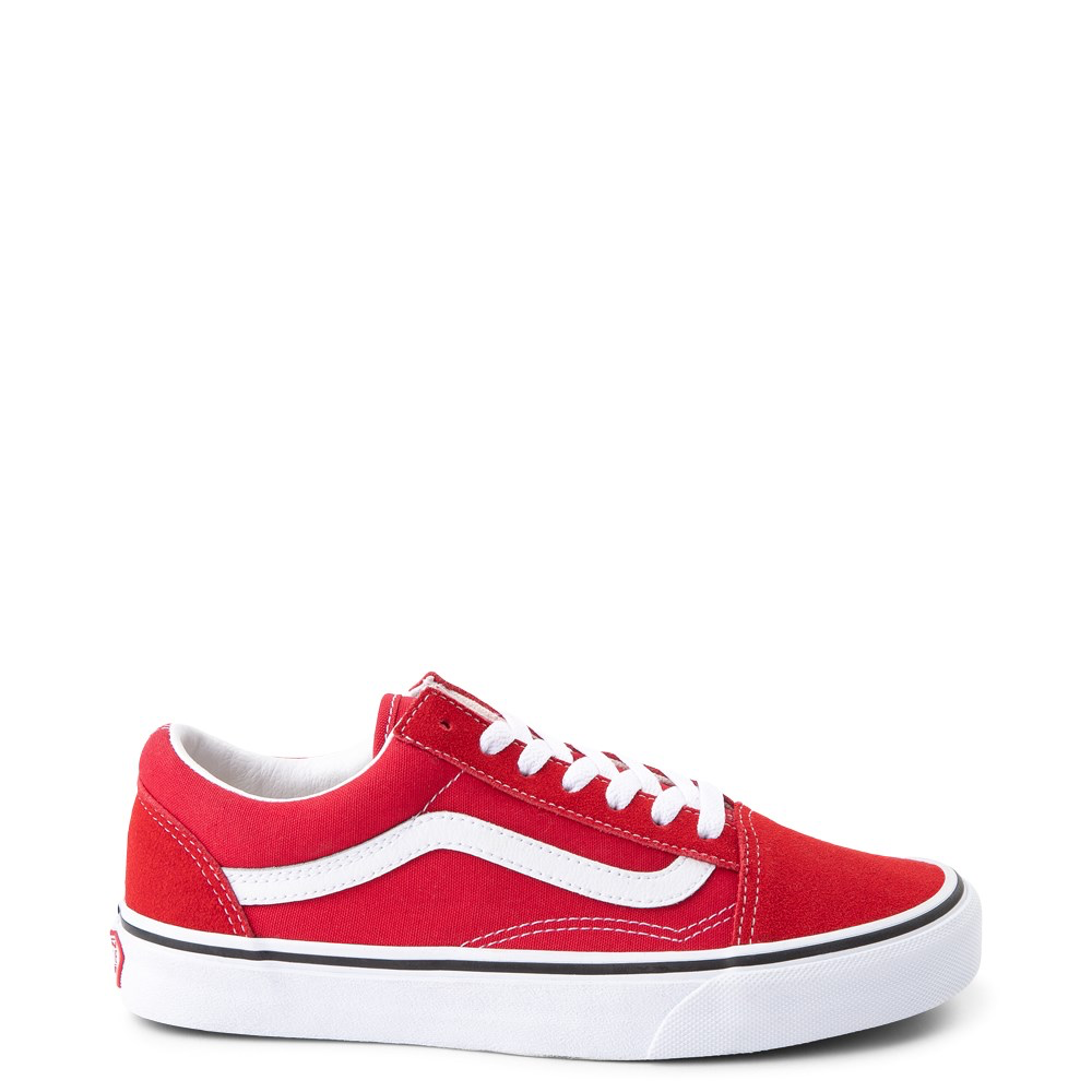 Vans Old Skool Skate Shoe Racing Red in 2020 | Red vans