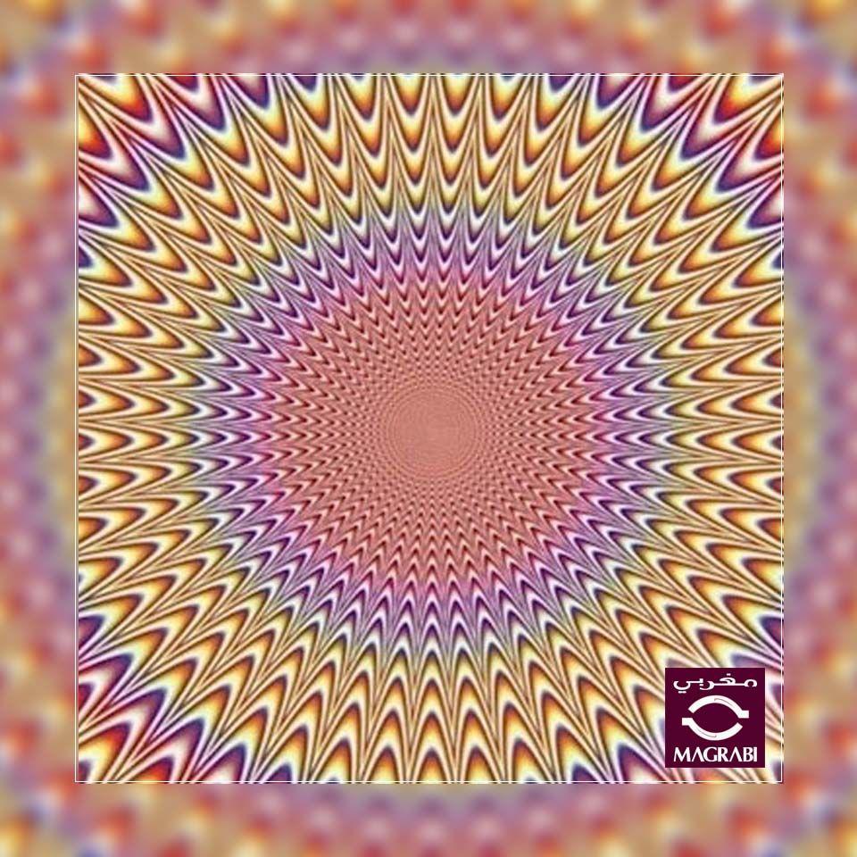 نعم أم لا هل ترى الصورة متحركة شارك الصورة مع اصدقاءك إذا تمكنت من رؤية الخيوط المتحركة Yes Or No Are Optical Illusions Illusions Cool Optical Illusions