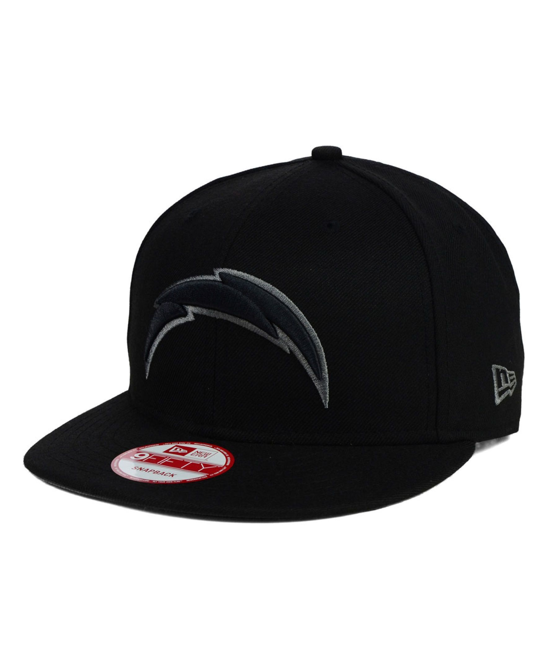 New Era San Diego Chargers Black Gray 9FIFTY Snapback Cap