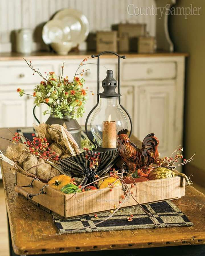 Tray Decoration Ideas Entrancing A Tray Full Of Autumn Fall Decor  Pinterest  Trays Autumn 2018