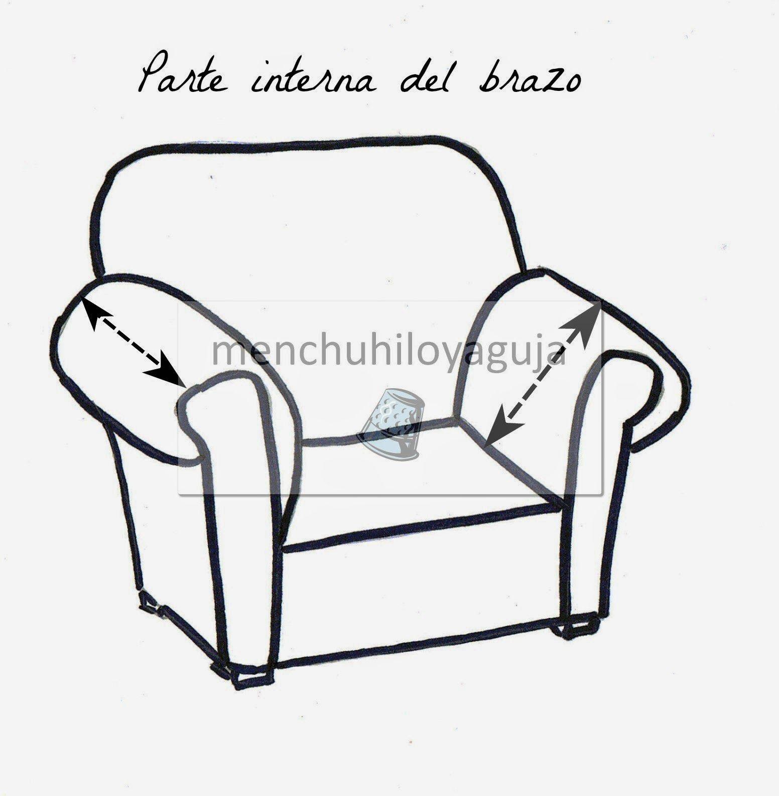 Como medir un sofá para confeccionar una funda. | patrones | Pinterest