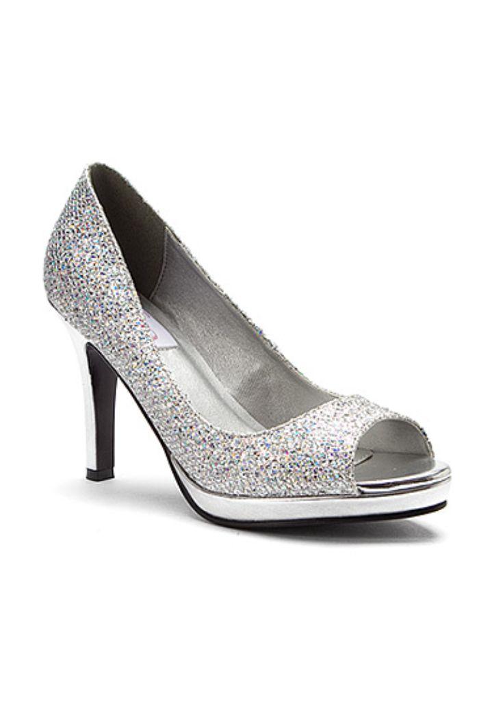 9a31d415ecc0 Glitter Evening High Heels to Size 11