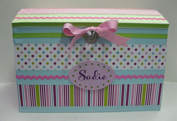 Charmant Pink Dot Treasure Storage Trunk For Girly Stuff To By RibbonMade, $75.00