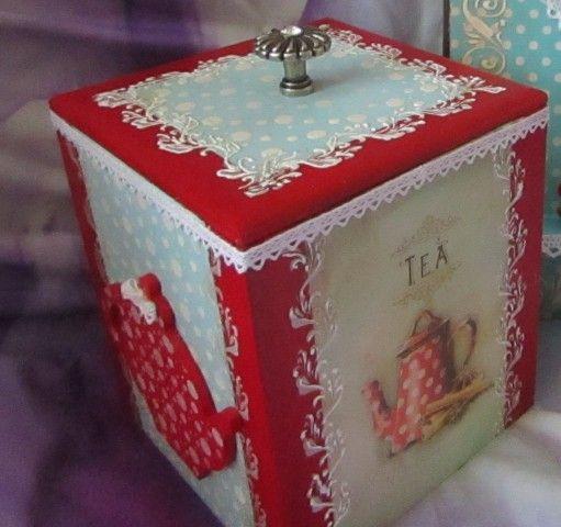 нарисовать коробку чая
