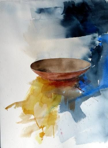 Bowl Painting Art Painting Abstract Watercolor Watercolor Artwork