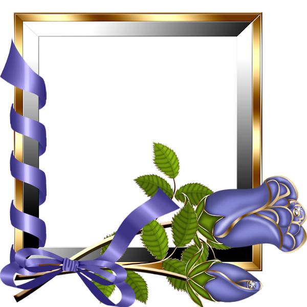 Gold and silver transparent frame with purple roses for Best online gallery to sell art