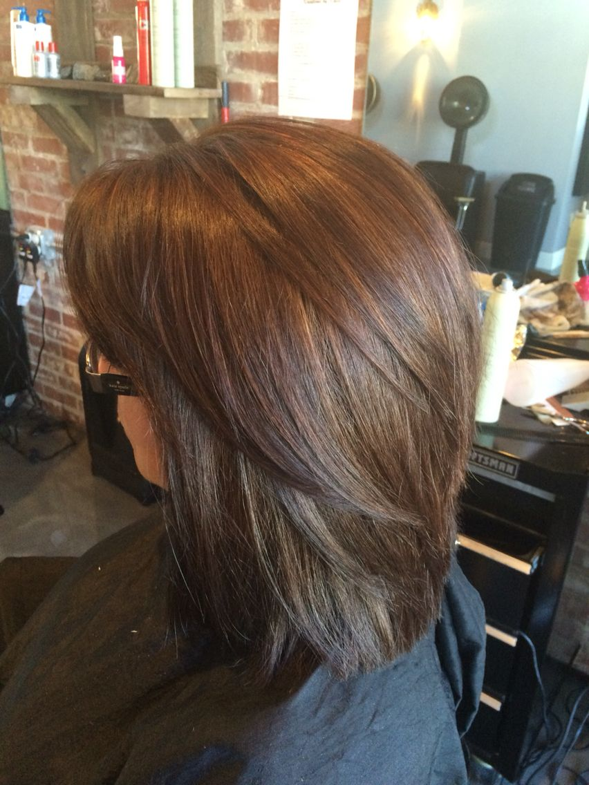 Brown All Over Color With Sweet Blended Light Brown Highlights Very