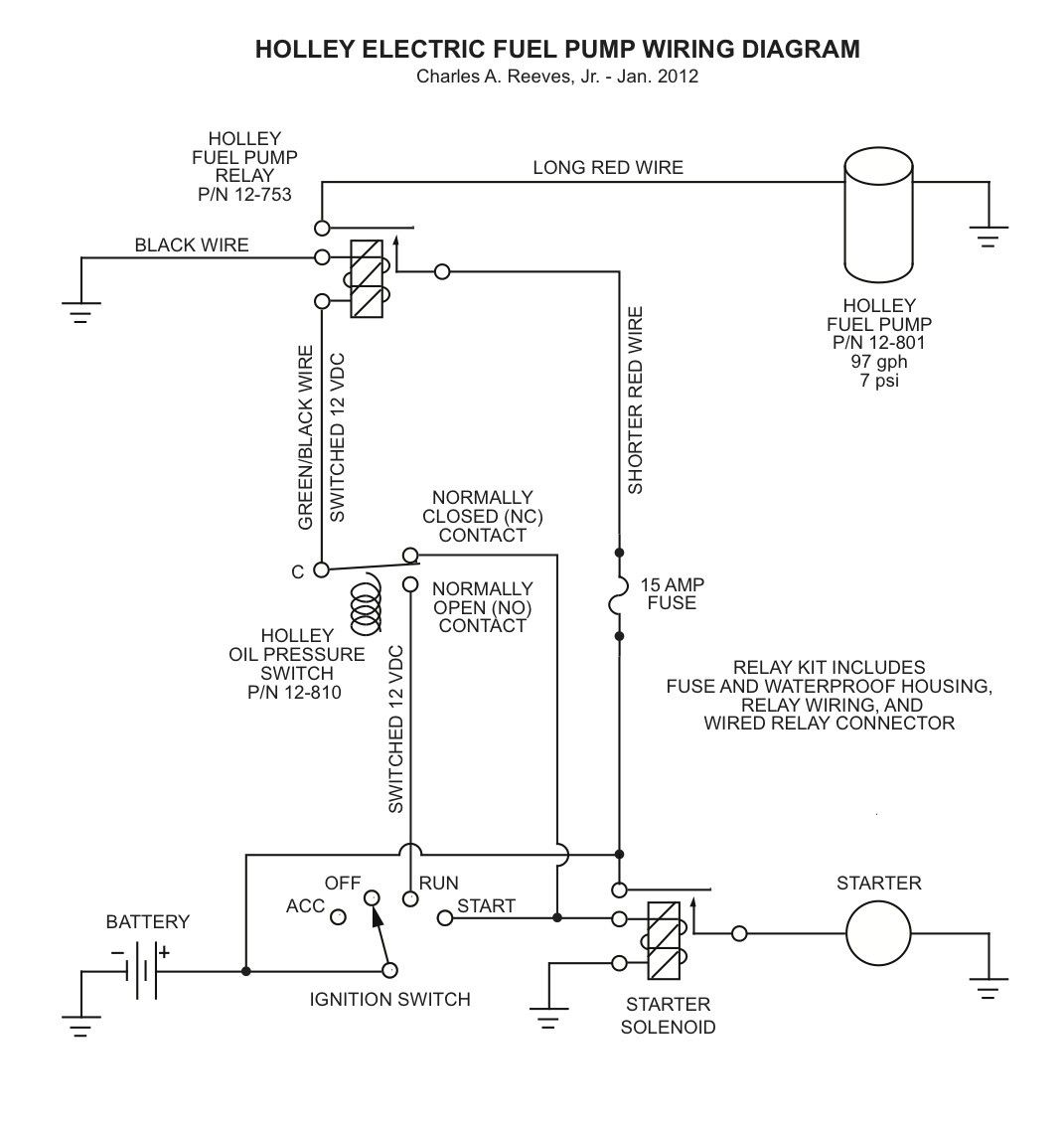 Electric Fuel Pump Relay Wiring Diagram And Installing Holley 1966 Mustang Elect Jpg For Electric Fuel Pump Wiring Diagram Holley Fuel Pump House Wiring Holley