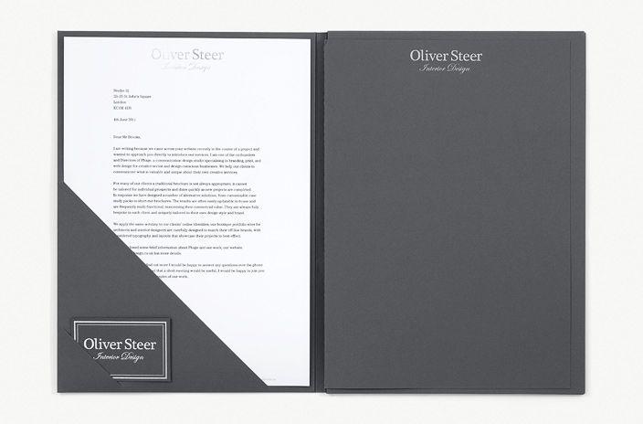 Luxury presentation folder for highend interior design business  Branding  Portfolio design