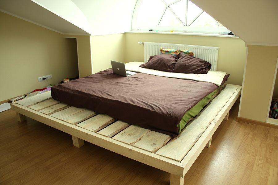 Letto Di Pallets : Diy bed legno legno e idee