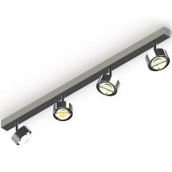 Photo of Top Light Puk Maxx Choice Turn Deckenleuchte 4 Köpfe chrom 105cm Standard-Fassung Top Light