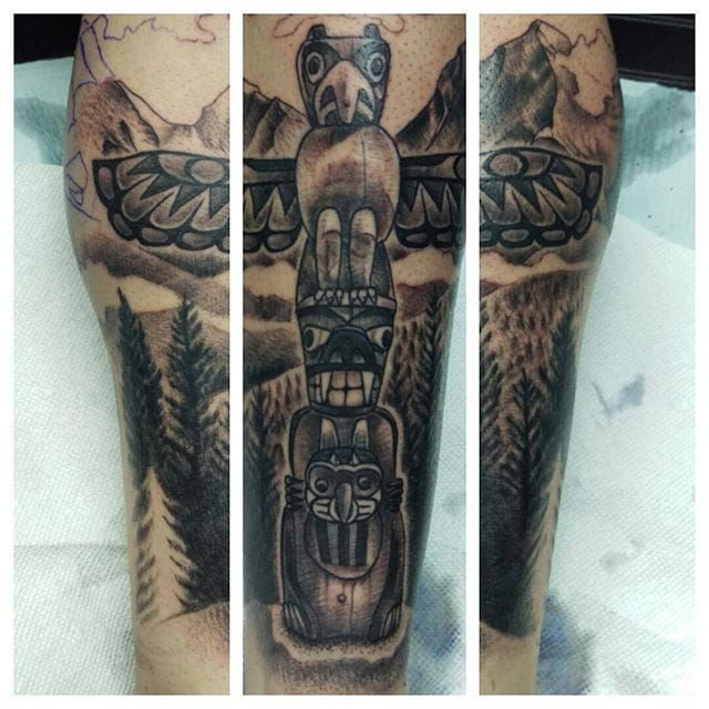 10 Spiritual Totem Pole Tattoos Totem Tattoo Totem Pole Tattoo Tattoos