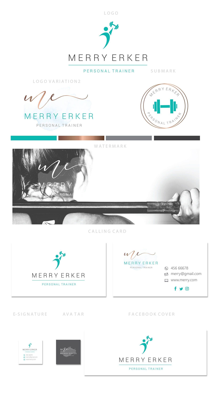 Branding kit logo design  Fitness instructor  Personal | Etsy