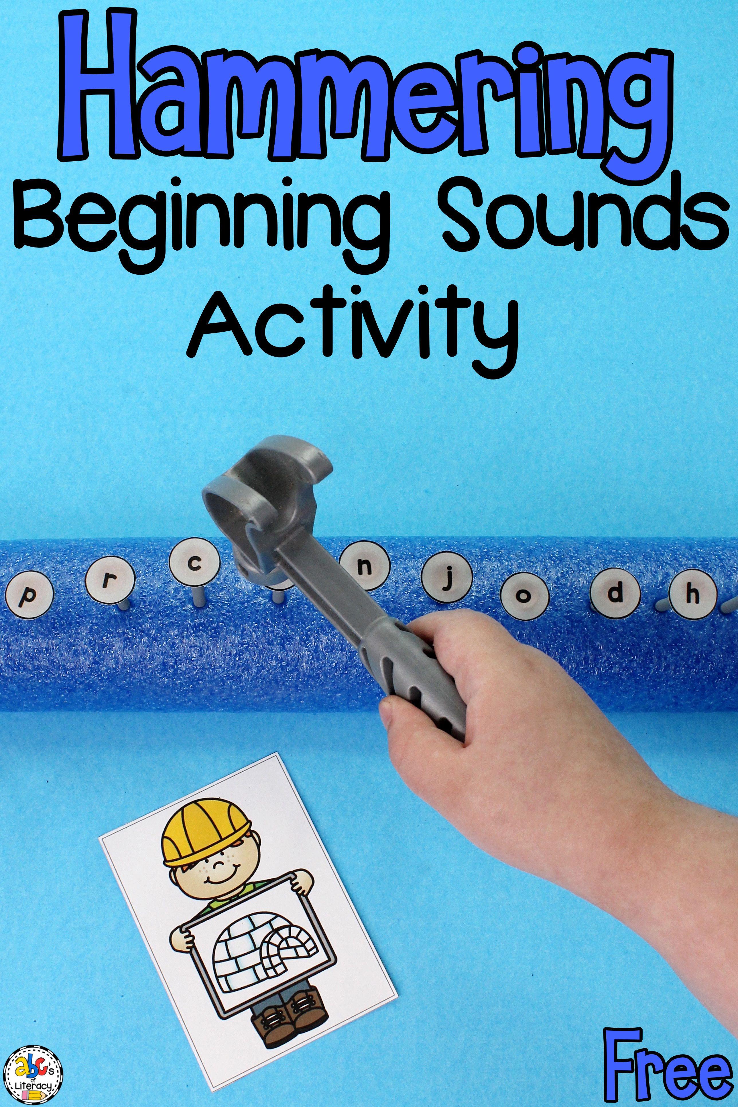 Hammering Beginning Sounds Activity Phonics Activity In