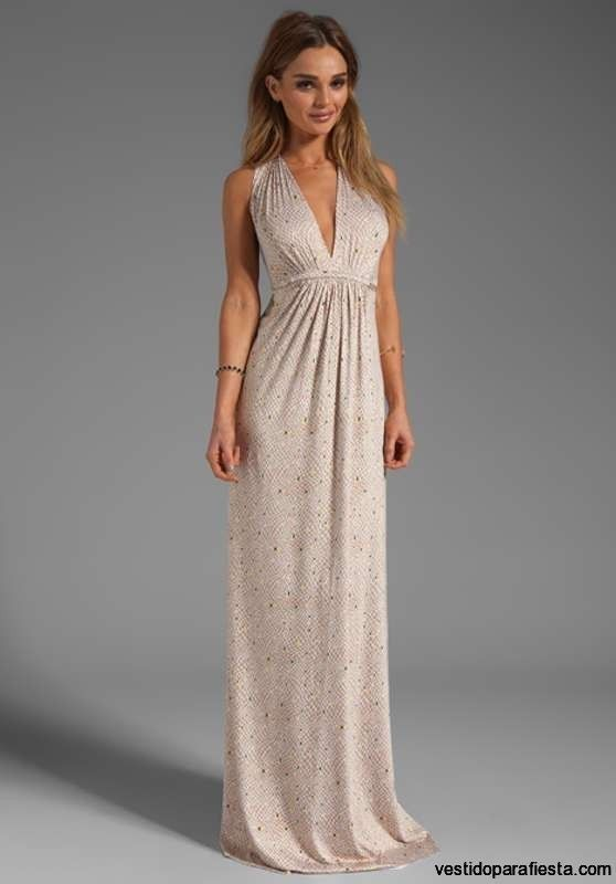 I➨Sencillos y elegantes vestidos largos para boda de dia - 27 ... 77d42791ca6