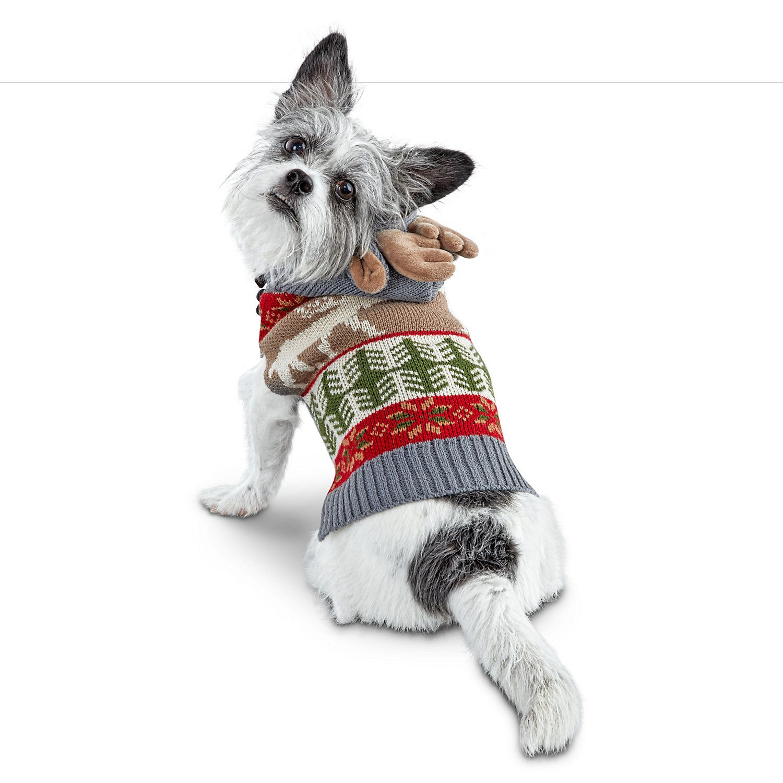 Bond Co Fair Isle Knit Moose Dog Sweater Large Dog Sweaters