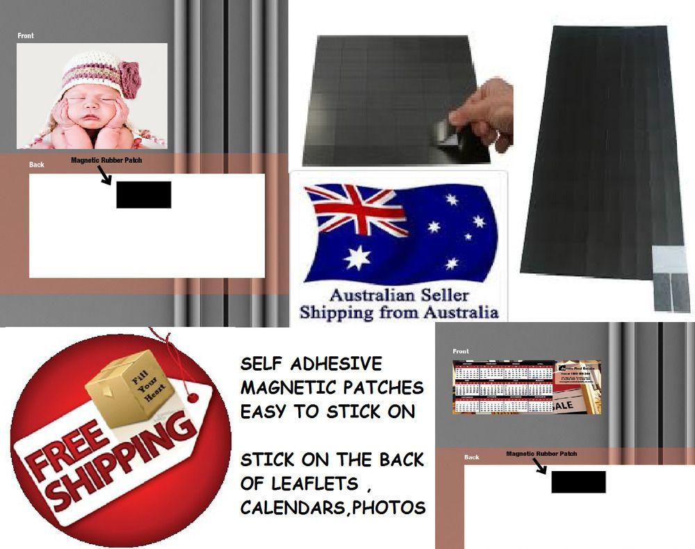 Magnets 100pcs Self Adhesive Craft Photo Invitations Wedding Menus 20mmx38mm