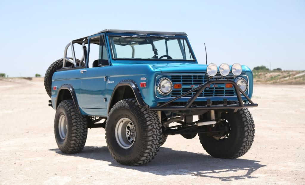Classic Ford Bronco Beautiful Blue Paint Timkhana Ford Bronco