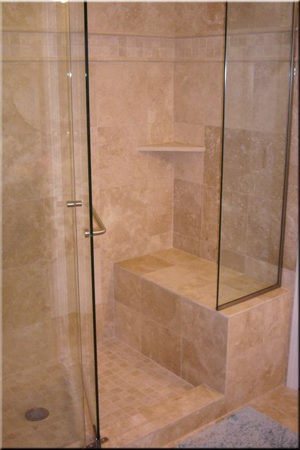 tiled shower enclosures with seat | Tiling Installation | Master ...
