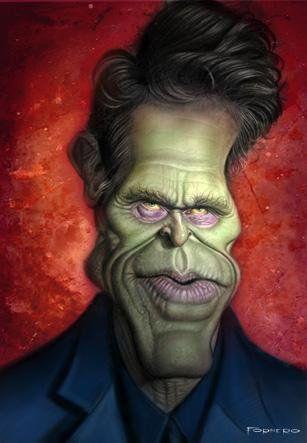 Caricatura Del Actor Willem Dafoe En El Papel De Norman Osborn