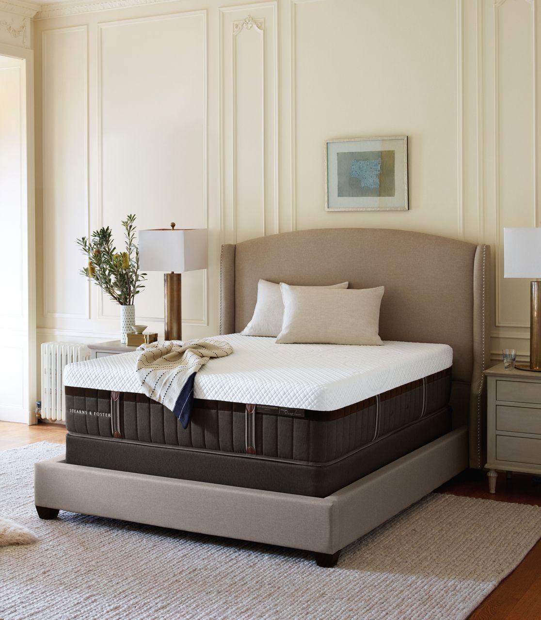 Stearns Foster Cassatt Lux Estate Luxury Firm Euro Pillowtop Mattress Free Visa 200 Gift Card Stearns And Foster Mattress Adjustable Beds Firm Mattress