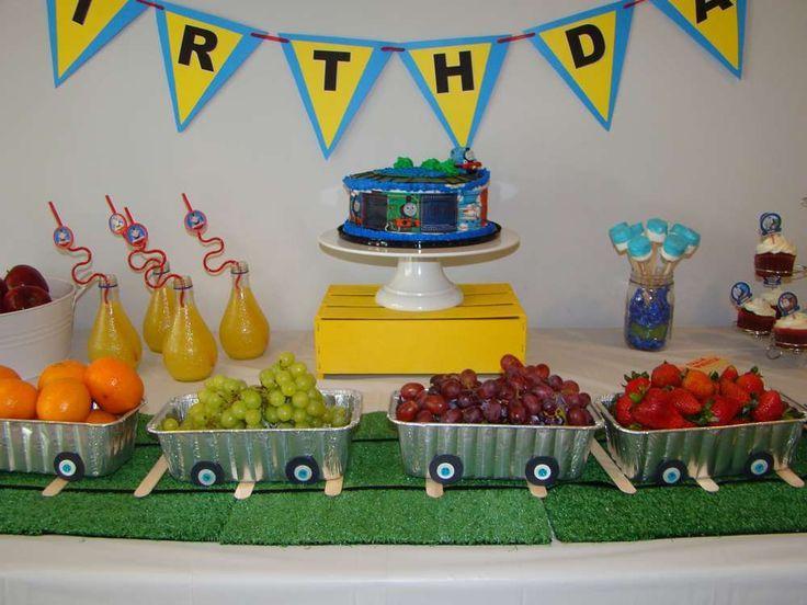 B4d10c6e62e016bad038bd7d3cef3cfd Jpg 736 552 Thomas The Train Birthday Party Toddler Birthday Party Thomas Birthday Parties